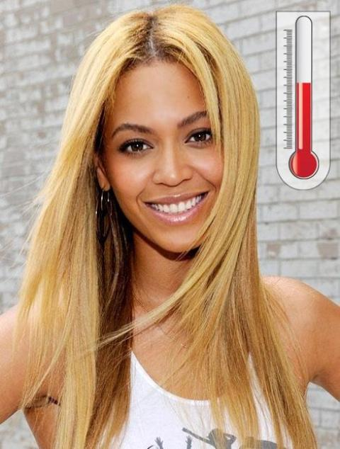 African American Blonde Straight Wigs