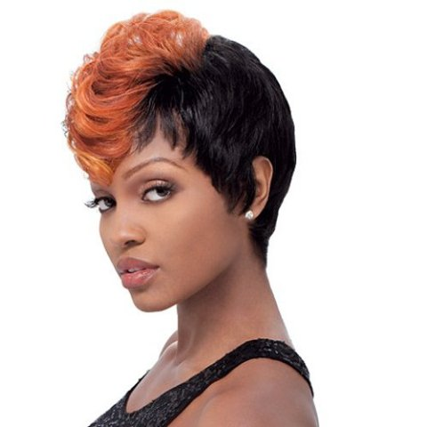 African American Colored Pixie Wigs