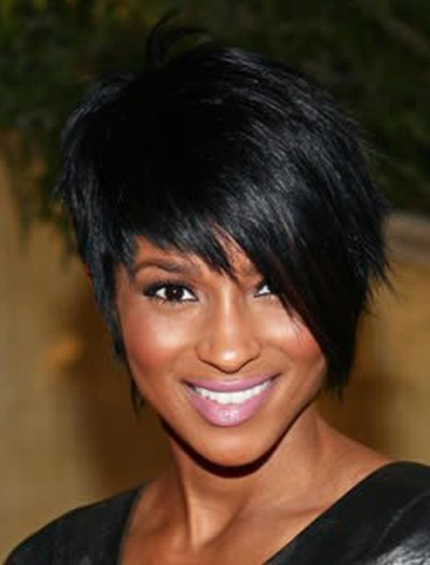 African American Pixie Wigs With A Side Bang