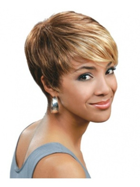 African American Short Straight Wigs