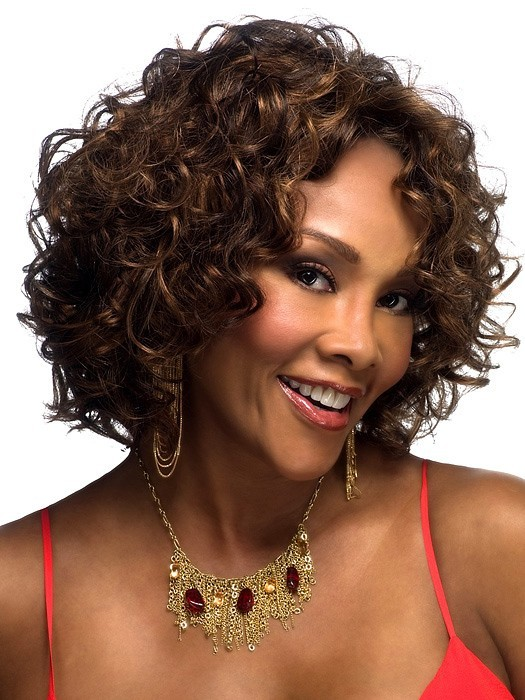 African American Vivica Fox Curly Wigs