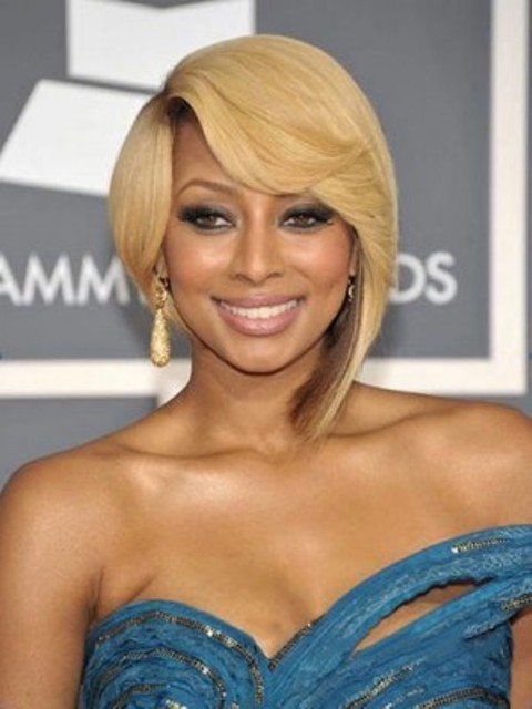 African American short blonde wigs