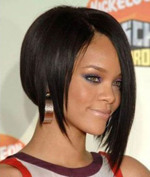 Assymetrical Bob Style Lace Wigs for Black Women