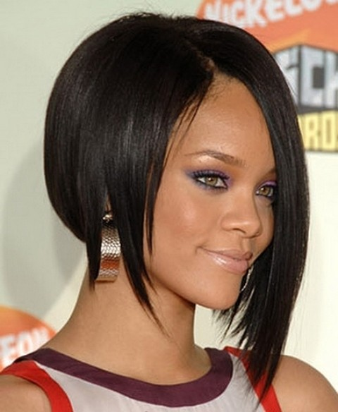 Asymmetrical African American Straight Wigs