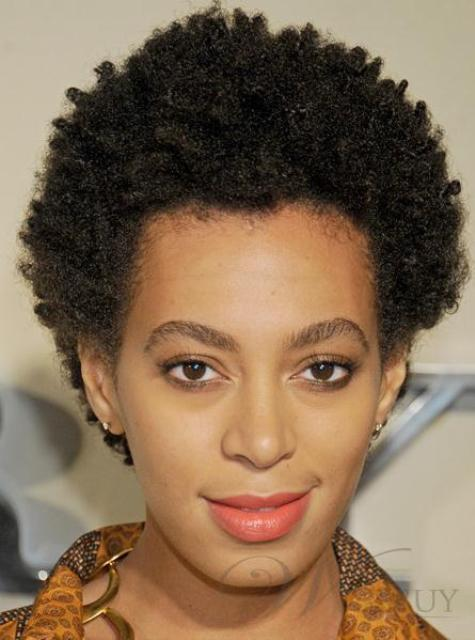 Classic Afro Hairstyle Short Kinky Curly Hand Made Full Lace Wig 100% Real Human Hair