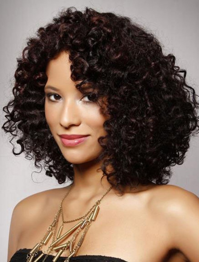 Curly African American Remy Human Hair Wigs