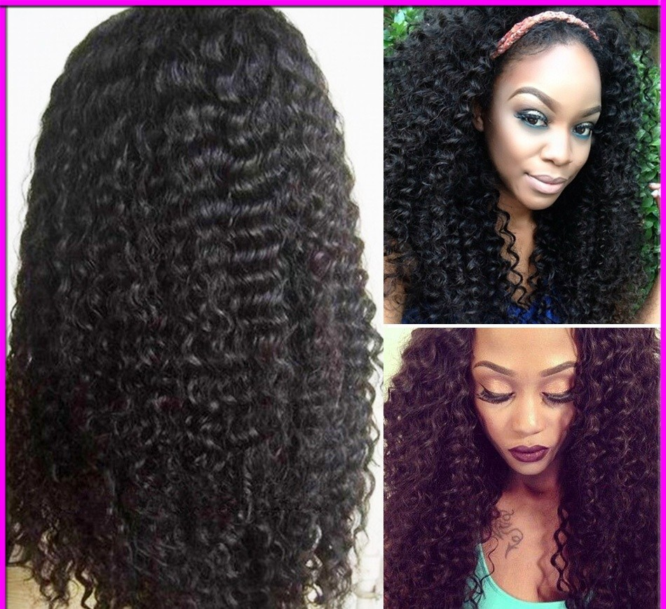Curly Silk-Top Lace Wigs for Black Women
