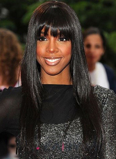 Long African American Synthetic Hair Wigs