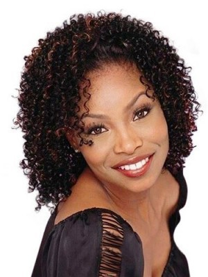 Medium African american curly wigs