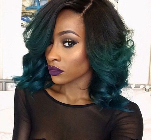 Ombre African American Synthetic Hair Wigs