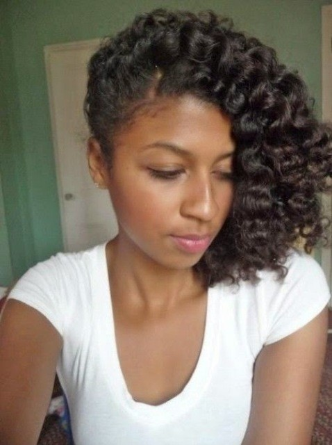 Groovy Pin Curls Hairstyle For Black Women Cruckers Hairstyles For Women Draintrainus
