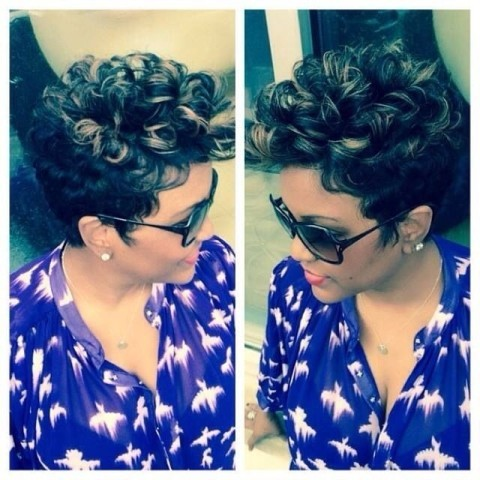 Enjoyable Pin Curls Hairstyle For Black Women Cruckers Hairstyle Inspiration Daily Dogsangcom