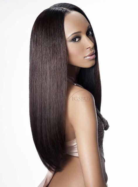 Remy Human Hair Long Straight Full Lace Wig