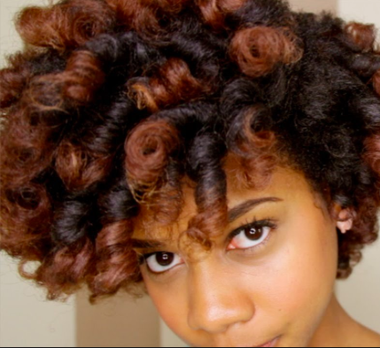 SHORT BLOWOUT HAIRSTYLE WITH COLOR FOR BLACK WOMEN