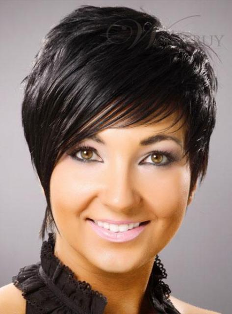 Short Straight Black Hair Full Lace Wig