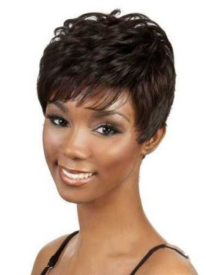 Short Wig Curly-Hairstyle For Black Women