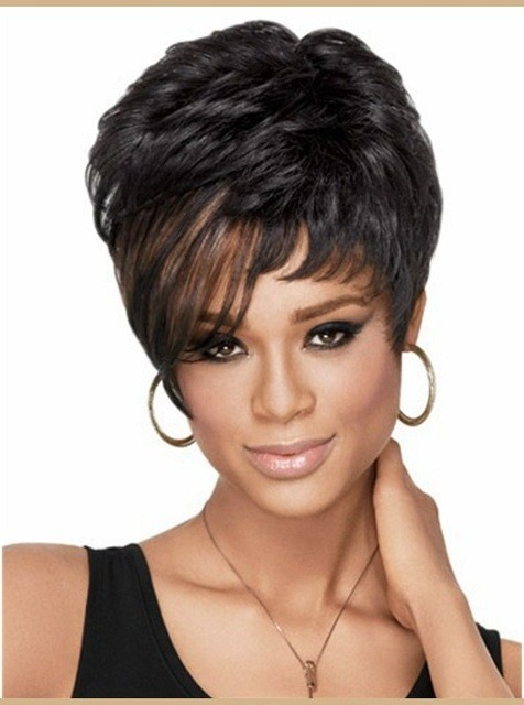 Short Wig Wavy-Hairstyle For Black Women