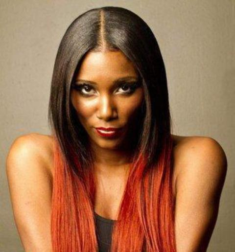 Straight Ombre Lace Wigs for Black Women