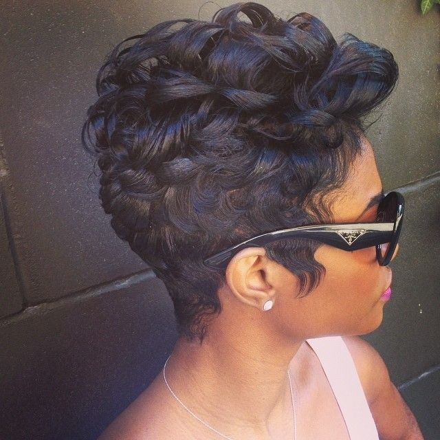 BEST SHORT BIG CURLY THICK HAIRSTYLE BLACK WOMEN