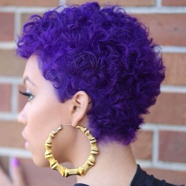 BEST SHORT COLORED CURLY HAIRCUT AFRICAN WOMEN