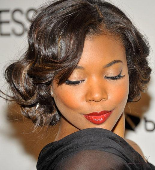 BEST SHORT CURLY HAIRSTYLE BLACK WOMEN OVER 40S
