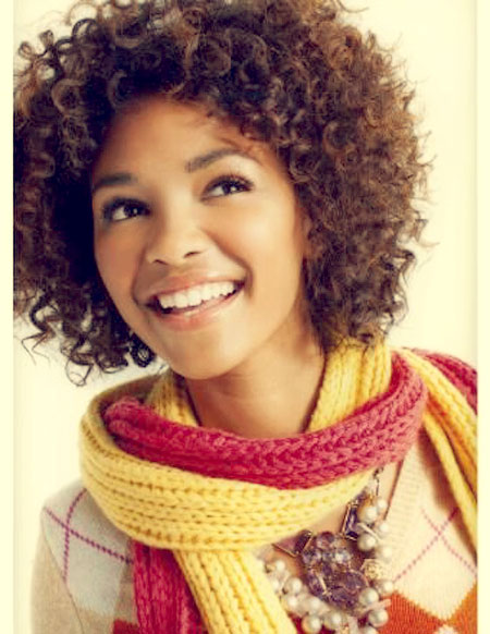 BEST SHORT CURLY HAIRSTYLE FOR BLACK GIRLS