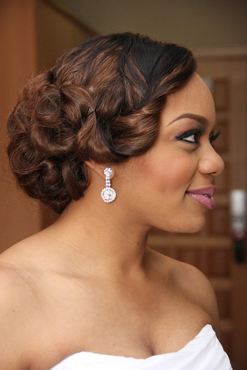 BEST SHORT CURLY HAIRSTYLE FOR BRIDES BLACK WOMEN