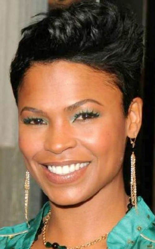 BEST SHORT CURLY HAIRSTYLE ON SQUARE FACE BLACK WOMEN