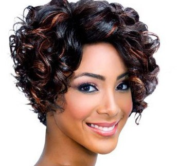 BEST SHORT CURLY HAIRSTYLE VOLUME WAVES BLACK WOMEN