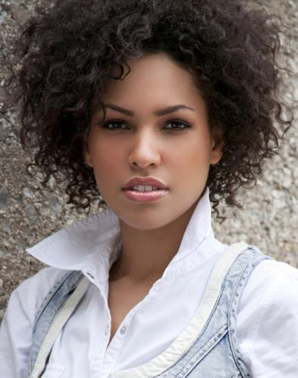 Black Curly Hairstyles while men can wear a shoulder length black curly haircut to let the curls frame Best Short Curly Messy Hairstyle Black Women