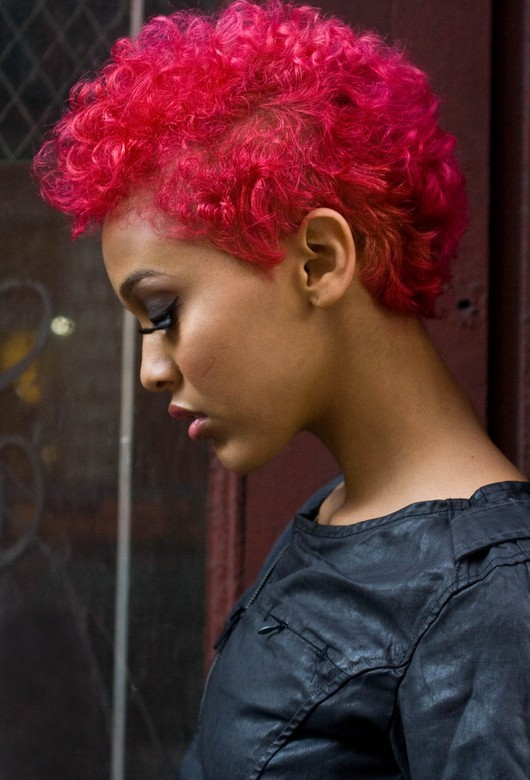 BEST SHORT CURLY RED HAIRSTYLE BLACK WOMEN