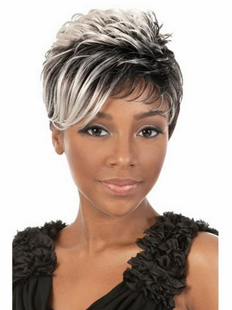 BEST SHORT CURLY TWO WAY COLOR HAIRSTYLE BLACK WOMEN