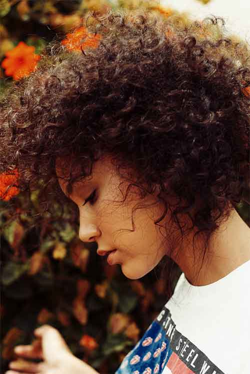 BEST SHORT CURLY WITH VOLUME HAIRSTYLE BLACK WOMEN