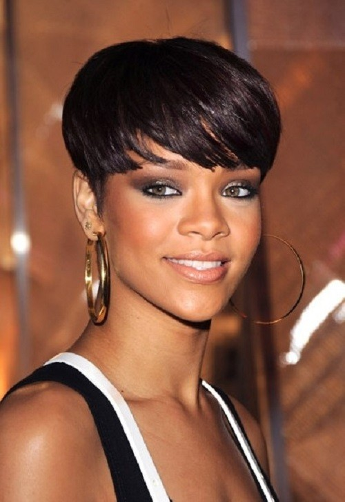 Short Hairstyle With Full Bangs