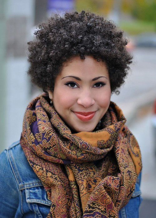 BEST SHORT NATURAL CURLY HAIRSTYLE FOR BLACK WOMEN
