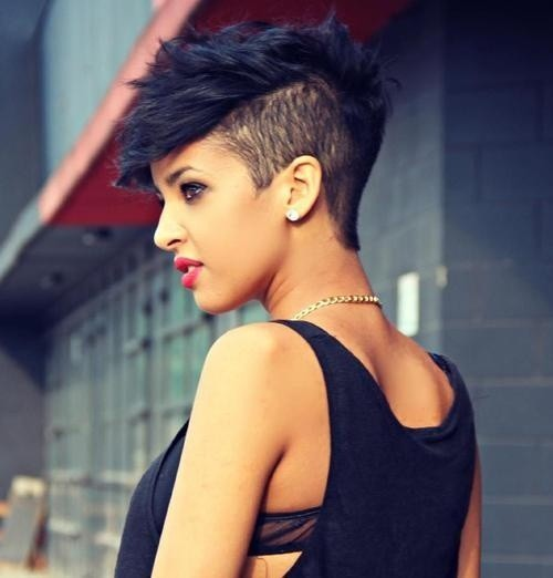 BEST SHORT ONE SIDE MOHAWK HAIR CUT AFRICAN AMERICAN