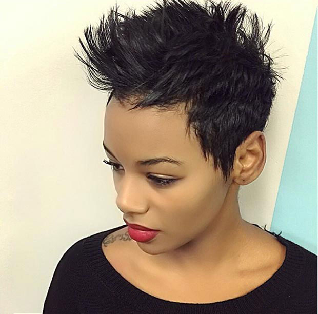 BEST SHORT PIXIE HAIRCUT AFRICAN AMERICAN