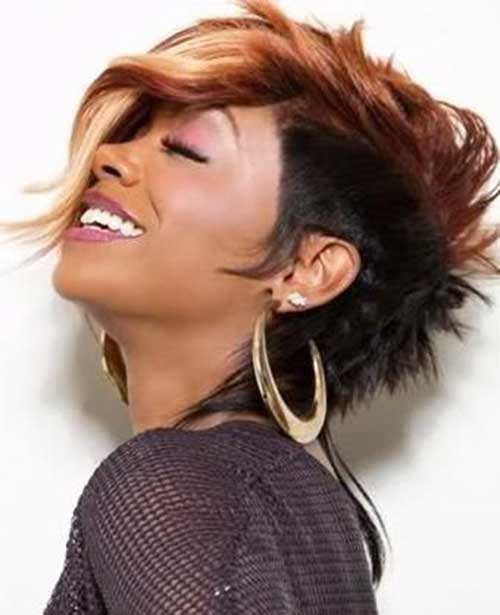 BEST SHORT TWO WAY COLOR  HAIRCUT WITH LONG BANGS AFRICAN AMERICAN