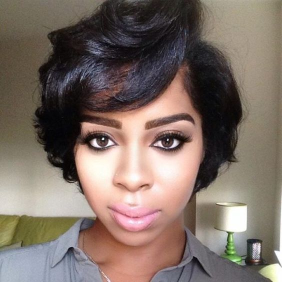 Short Black Haircuts Women 90