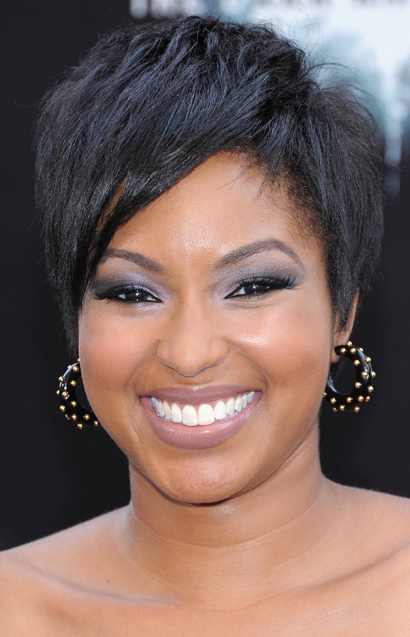 Tremendous Short Haircut For Thick Hair African American Round Faces