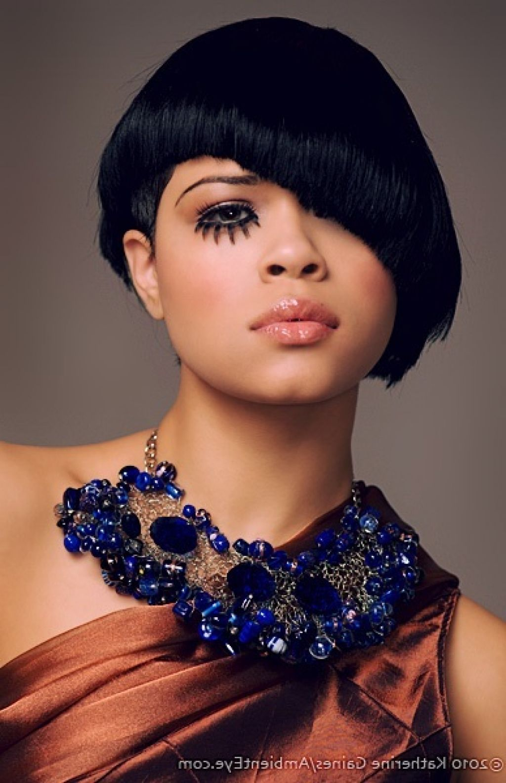 Tremendous Short Haircut for Thick hair African American Half Face Covered