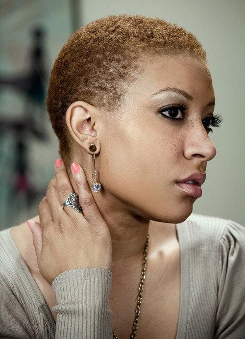 5 Good Short Normal Haircuts on faded Brown Natural African American