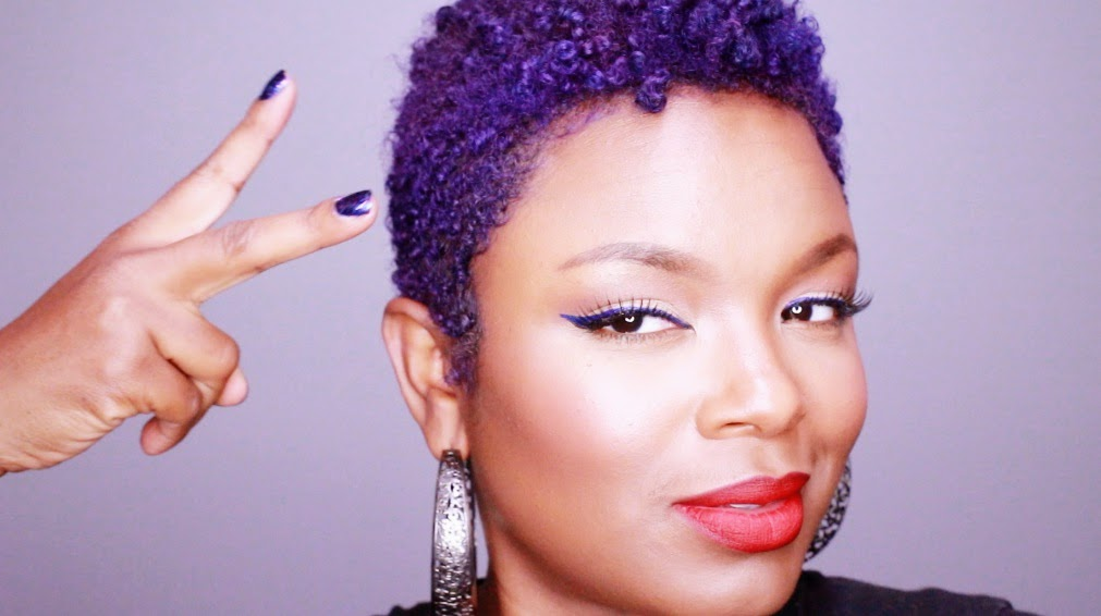 How To Dye Natural African American Hair Purple
