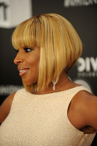 5 Most Inspiring Short Straight White Blonde haircut African American Women Above 40's