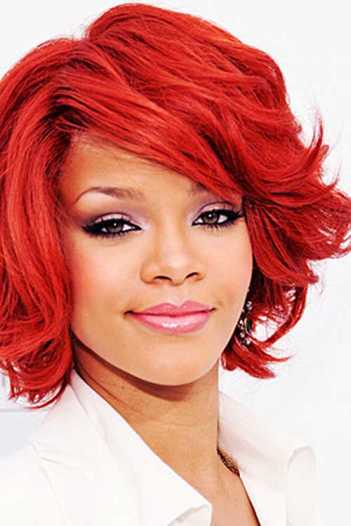 5 Short Haircut Wavy Red   African American can't do without