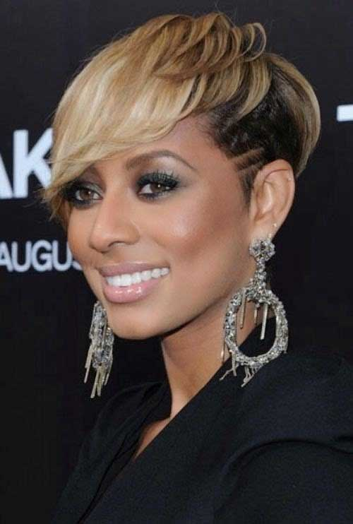 5 Short Sophisticated haircuts with curls natural colored on bangs African American