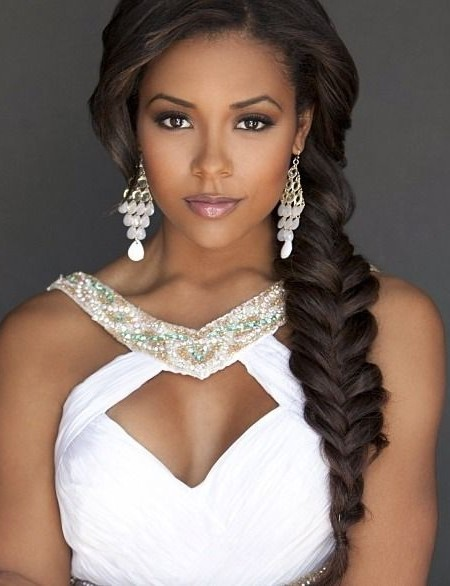 Best Fish Tail Wedding Hairstyle for Black Women