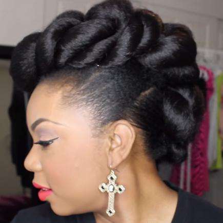 Best Natural Wavy Wedding Hairstyle for Black Women