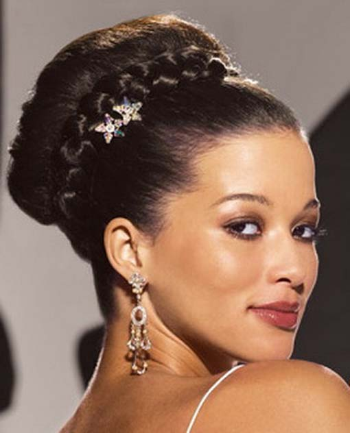 Best Wedding Braided Bun Hairstyle for Black Women