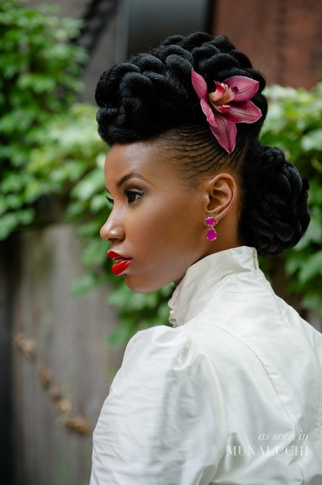 Best wedding hairstyle up do for Black Women
